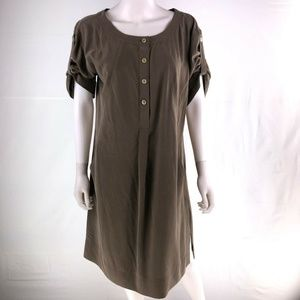 J. Jill Medium Knee Length Brown Shift Dress